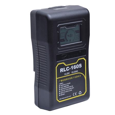 Bateria-Broadcast-V-Mount-Rolux-RLC-160S-160Wh-10.8Ah-com-Display-LCD