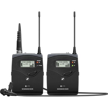 Sistema-Microfone-Lapela-ME-2-II-Sennheiser-EW-112P-G4-A-Wireless-Montagem-em-Cameras--A-516-a-558MHz-