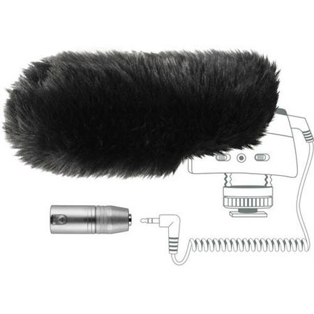 Kit-Protetor-de-Vento-e-Adaptador-XLR-Sennheiser-MZW-400-para-Microfone-MKE400
