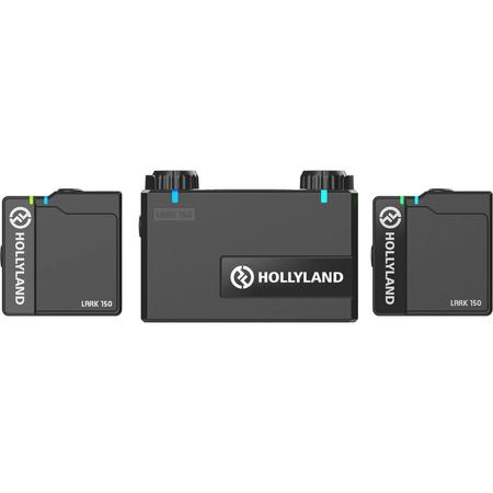 Sistema-Microfone-Sem-Fio-Lapela-Duplo-Hollyland-LARK-150-Wireless-Dual--2.4GHz-