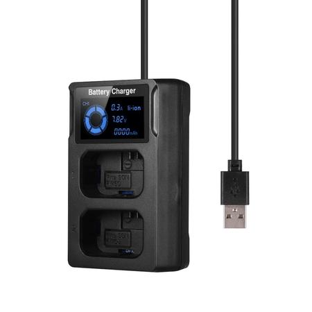 Carregador-de-Bateria-NP-FW50-Duplo-USB