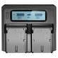 Carregador-Duplo-Rapido-para-Bateria-Panasonic-BLF19-com-USB--Bivolt-
