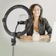 Iluminador-Led-Circular-AFI-R11-Ring-Light-28cm-Live-USB-com-Controle-Remoto-e-Suporte-de-Celular