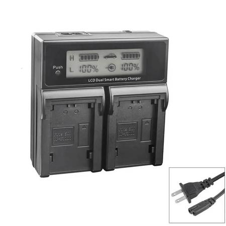 Carregador-Duplo-para-Bateria-FujiFilm-NP-W126---W126s-de-Carga-Rapida-e-Visor-de-LCD--Bivolt-