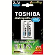 Carregador-USB-Toshiba-de-Pilha-AA-AAA-com-2x-Pilhas-AA-Recarregavel-de-2000mAh