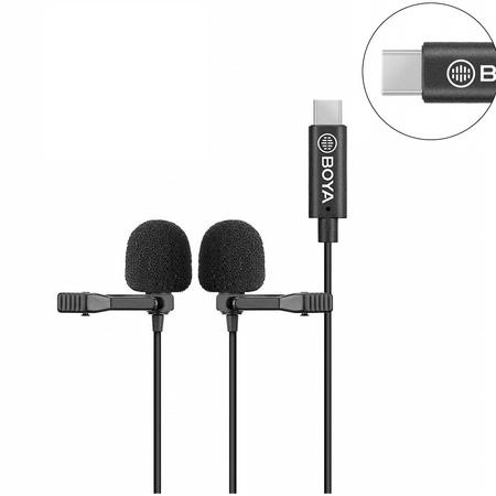 Microfones-Duplo-Lapela-Boya-BY-M3D-Omnidirecional-USB-C--Android-
