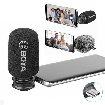 Microfone-Shotgun-Estereo-Boya-BY-DM100-USB-C-para-SmartPhone-Android