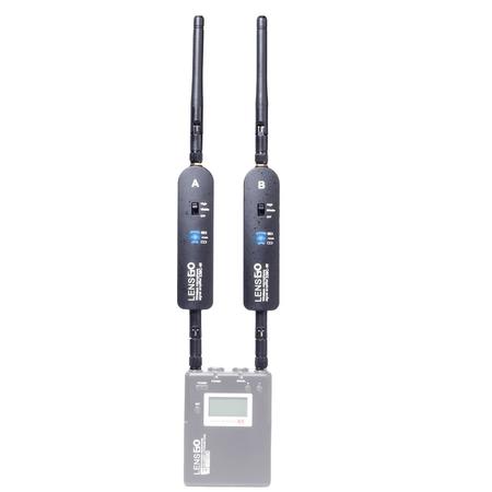Amplificador-de-Sinal-Lensgo-338C-W-para-Sistema-de-Microfone-Sem-Fio-LWM-338
