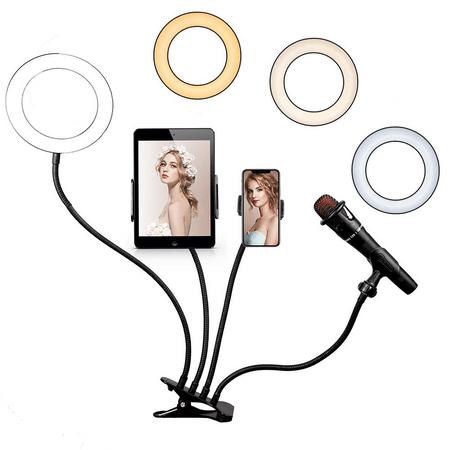 Iluminador-Ring-Light-6--LED-USB-4-em-1-Professional-Live-Stream