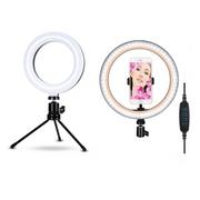 Kit-de-Iluminacao-LED-Ring-Light-10----Ring-Light-6--com-Mini-Tripe-e-Suporte-de-Celular