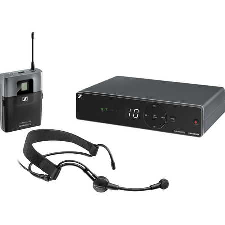 Sistema-de-Microfone-Sem-Fio-Headmic-Sennheiser-XSW-1-ME3-A-UHF-Wireless-