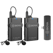 Microfone-de-Lapela-Duplo-Sem-Fio-Boya-BY-WM4-Pro-K6-para-Dispositivos-e-Smartphones-Android--USB-C-
