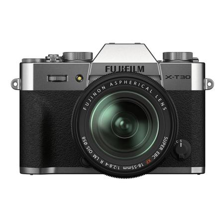 Camera-FujiFilm-X-T30-II-Mirrorless-Prata---Lente-XF-18-55mm-f-2.8-4-R-LM-OIS