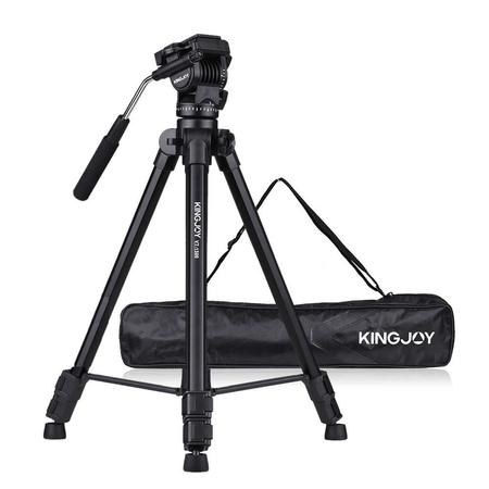 Tripe-Profissional-Kingjoy-VT-1500-com-Cabeca-Semi-Hidraulica-para-ate-4kg