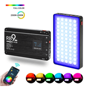 Iluminador-LED-Weeylite-RB9-RGB-Full-Color-12W-Bluetooth-com-Suporte-de-Smartphone---Mini-Tripe
