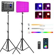 Kit-Iluminacao-LED-Weeylite-Sprite-20-RGB-Video-Light-30W-Controle-Remoto---Tripes-2M--Bivolt-