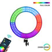 Iluminador-Ring-Light-RGB-18--Weeylite-WE-10S-LED-Circular-30W-Bi-Color--2500K-8500K-