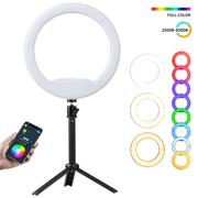 Iluminador-Ring-Light-RGB-8--Weeylite-WE-9-LED-Circular-12W-Bi-Color--2500K-8500K-