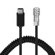 Cabo-Espiral-USB-C-x-2-Pinos-para-Blackmagic-BMPCC-4K-e-6K