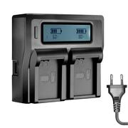 Carregador-Duplo-Rapido-para-Bateria-Sony-NP-FZ100-com-USB--Bivolt-
