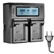 Carregador-Duplo-Rapido-para-Bateria-Sony-NP-FW50-com-USB--Bivolt-