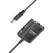 Adaptador-de-Audio-Multifuncional-Comica-Duplo-P2-3.5mm--TRS-TRRS--para-USB-C